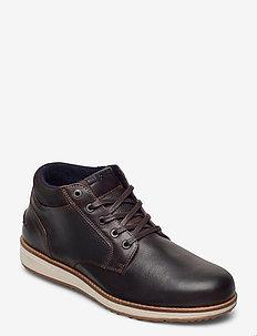 SUNDAL MID TMB M - laced boots - dark brown
