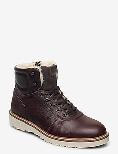 RUNO HGH FUR M - winter boots - dark brown