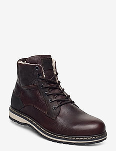 BOAZ HGH FUR M - vinter boots - dark brown