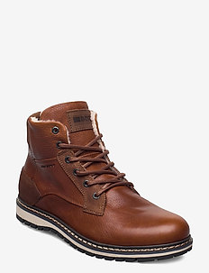 BOAZ HGH FUR M - vinter boots - tan