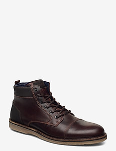 BARLOW HGH M - laced boots - dark brown