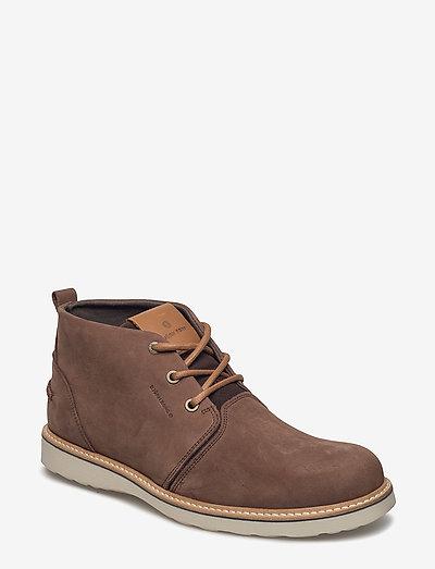 MILKO 02 MID M - desert boots - dark brown