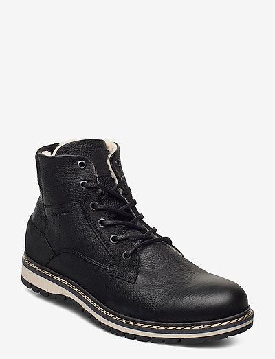 BOAZ HGH FUR M - vinterstøvler - black