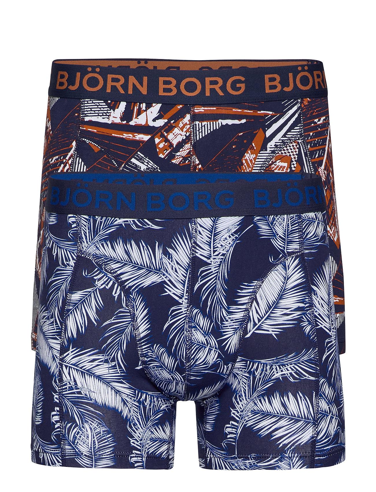 Björn Borg SHORTS BB PALMLEAF & BB LA SKYSKRAPER 2p - PEACOAT