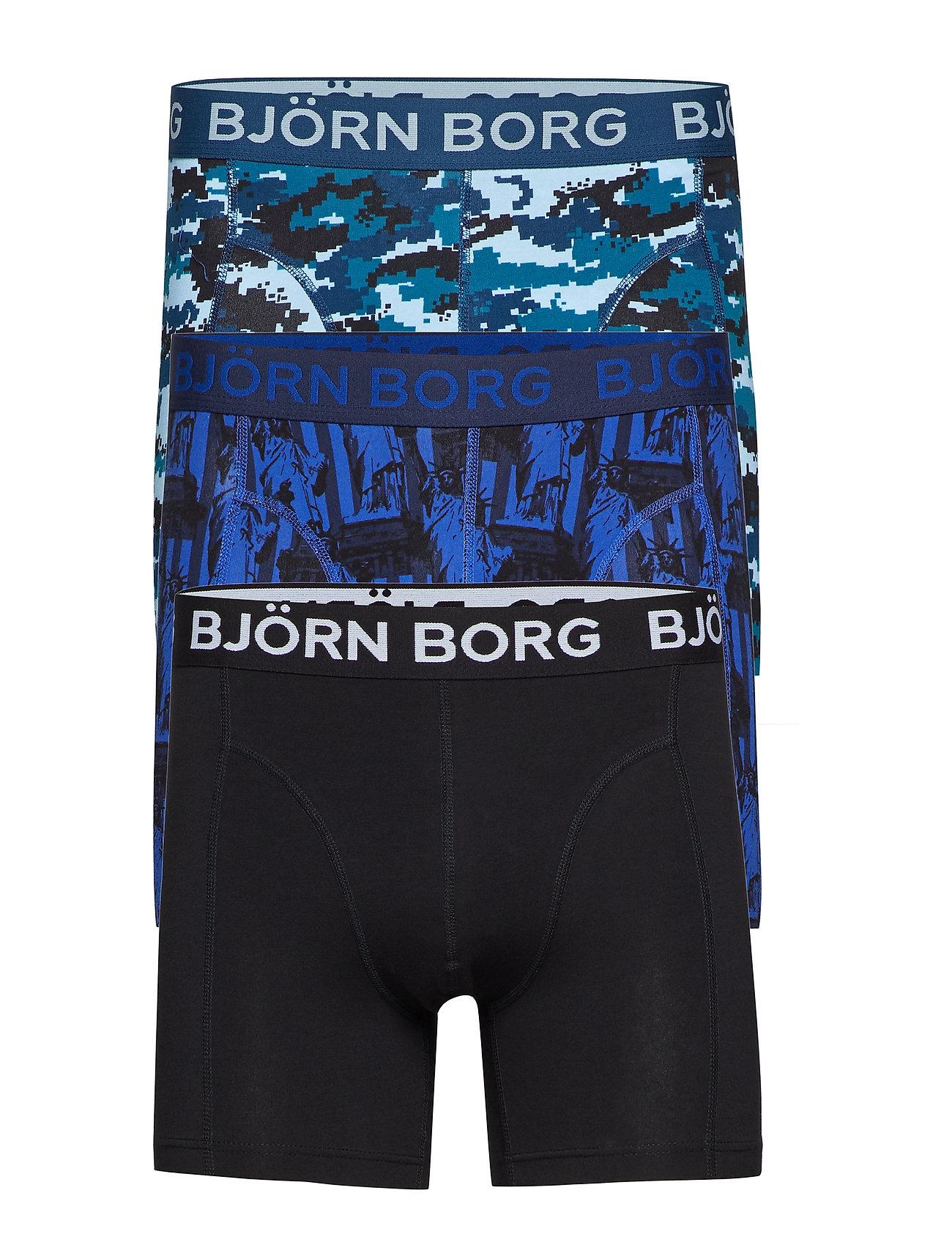 Björn Borg SHORTS BB SILHOUETTE & BB STATUE OF LIBERTY 3p - CORSAIR