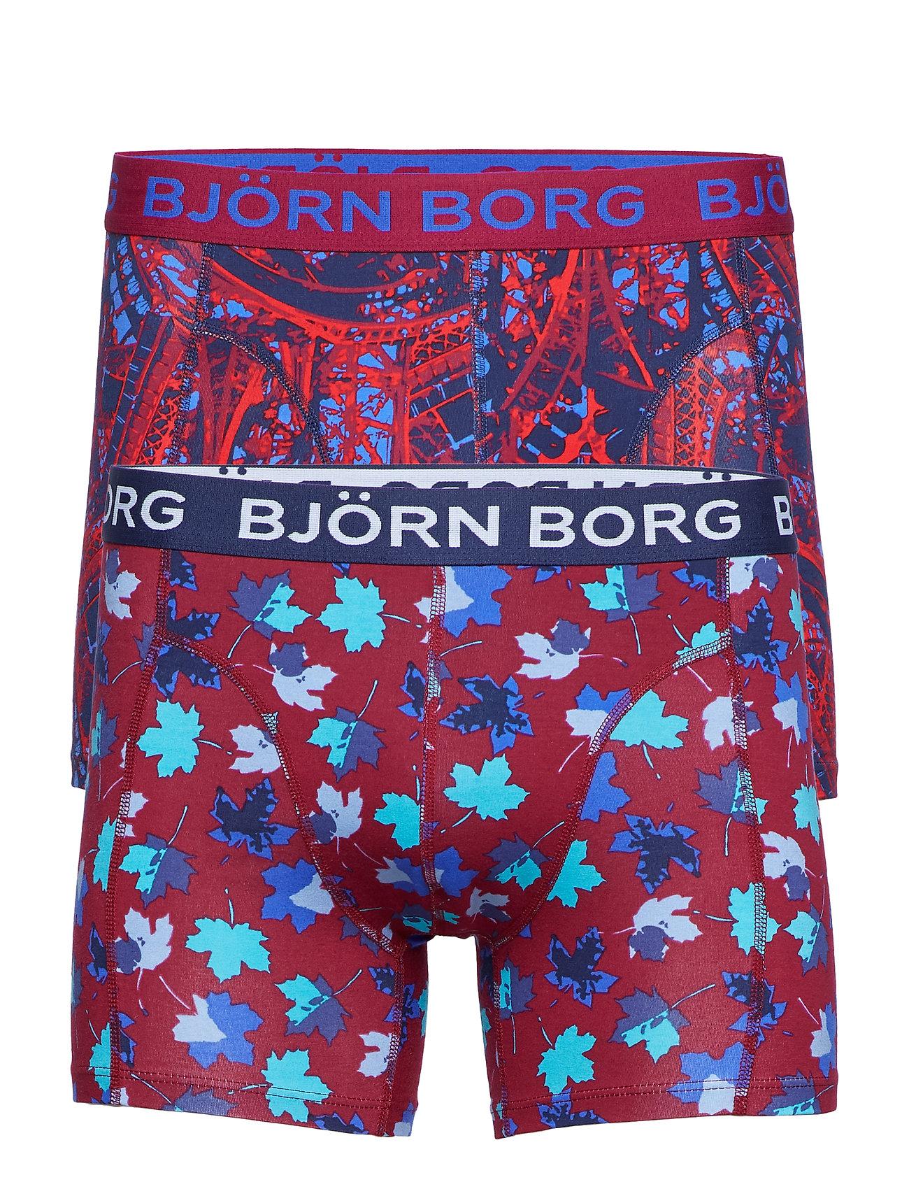 Björn Borg SHORTS BB EIFFEL & BB LEAFS 2p - PEACOAT