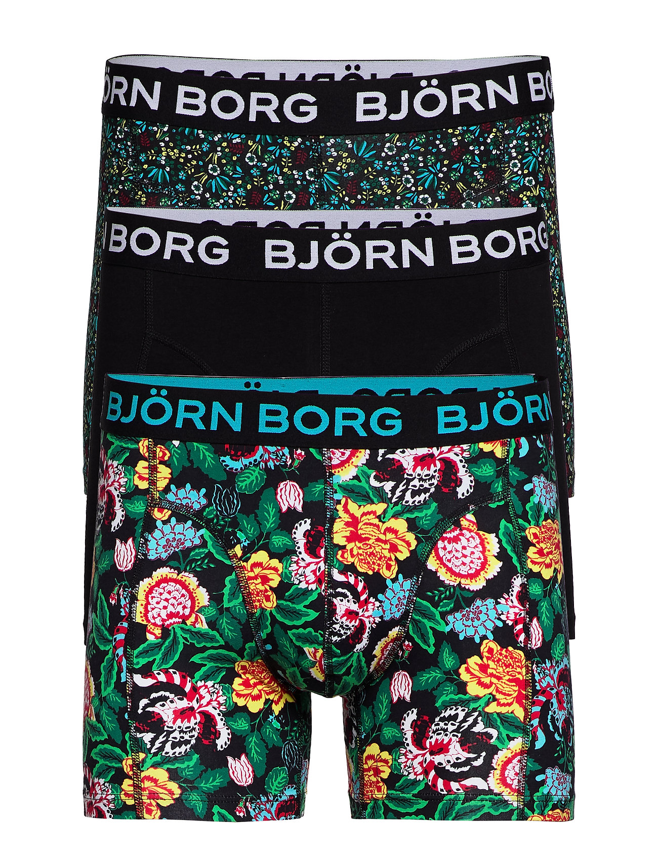 Björn Borg SHORTS SAMMY BB STRONG FLOWER & B - BLACK BEAUTY