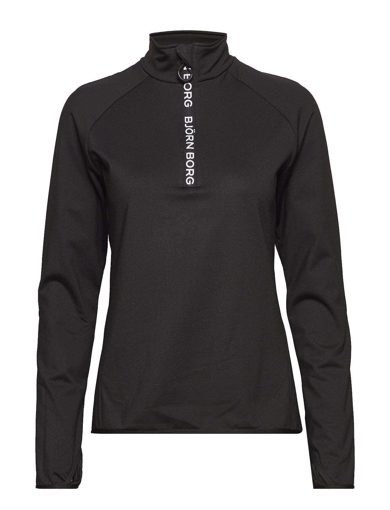 Björn Borg HALF ZIP POLO CHRISTA CHRISTA - BLACK BEAUTY