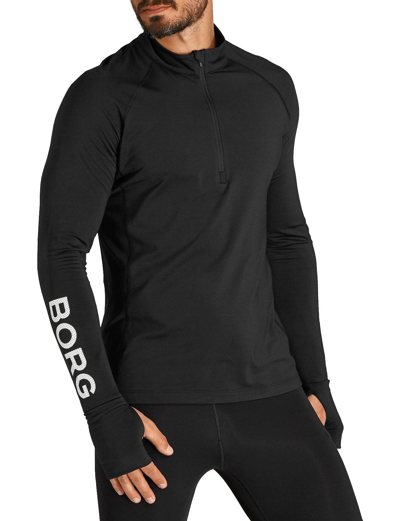 Björn Borg - MIDLAYER HALF ZIP BORG BORG - training jackets - black beauty - 0
