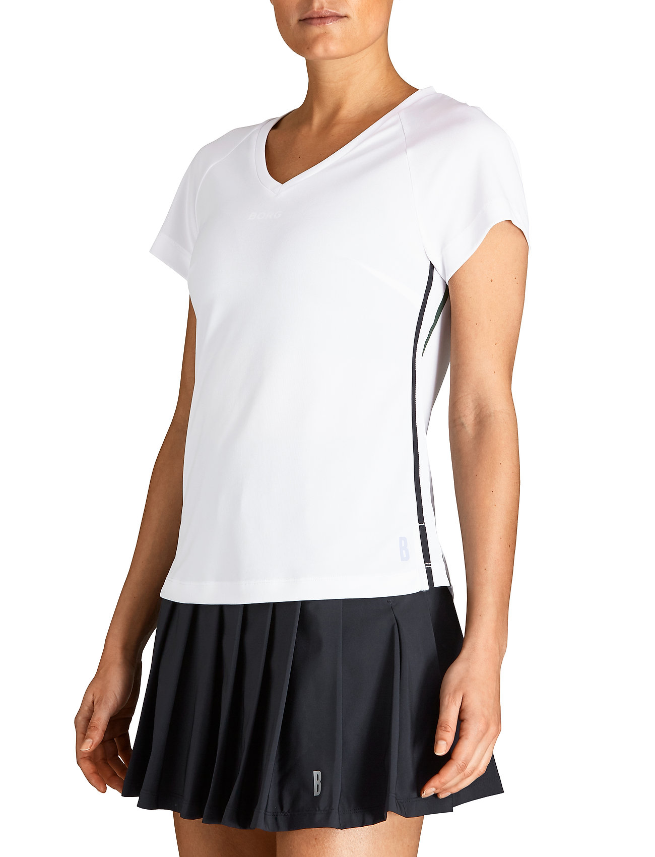 Björn Borg - V TEE TESIA TESIA - t-shirts - brilliant white - 0