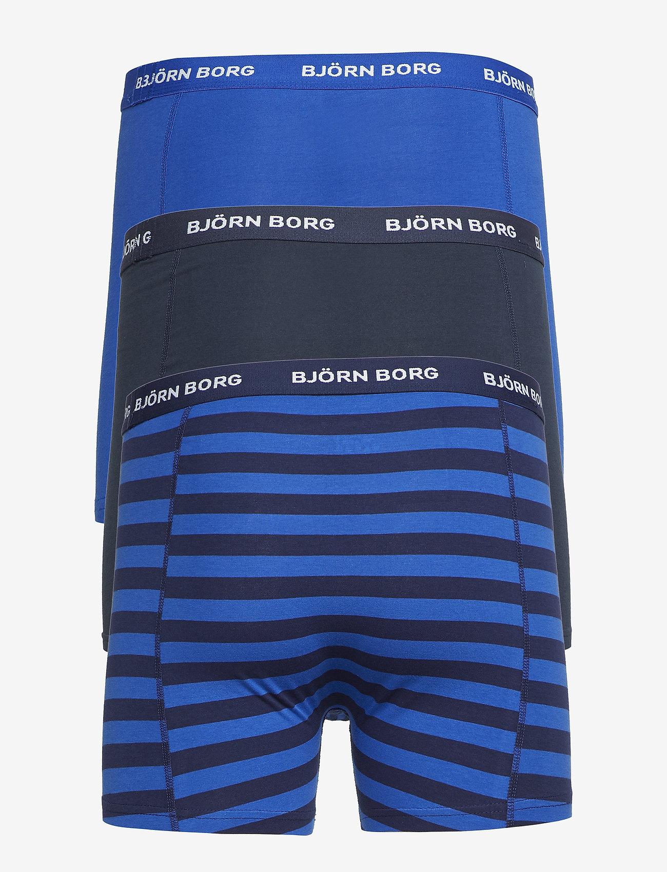 Shorts Bb Stripe 3p (Peacoat) - Björn Borg V79p6C