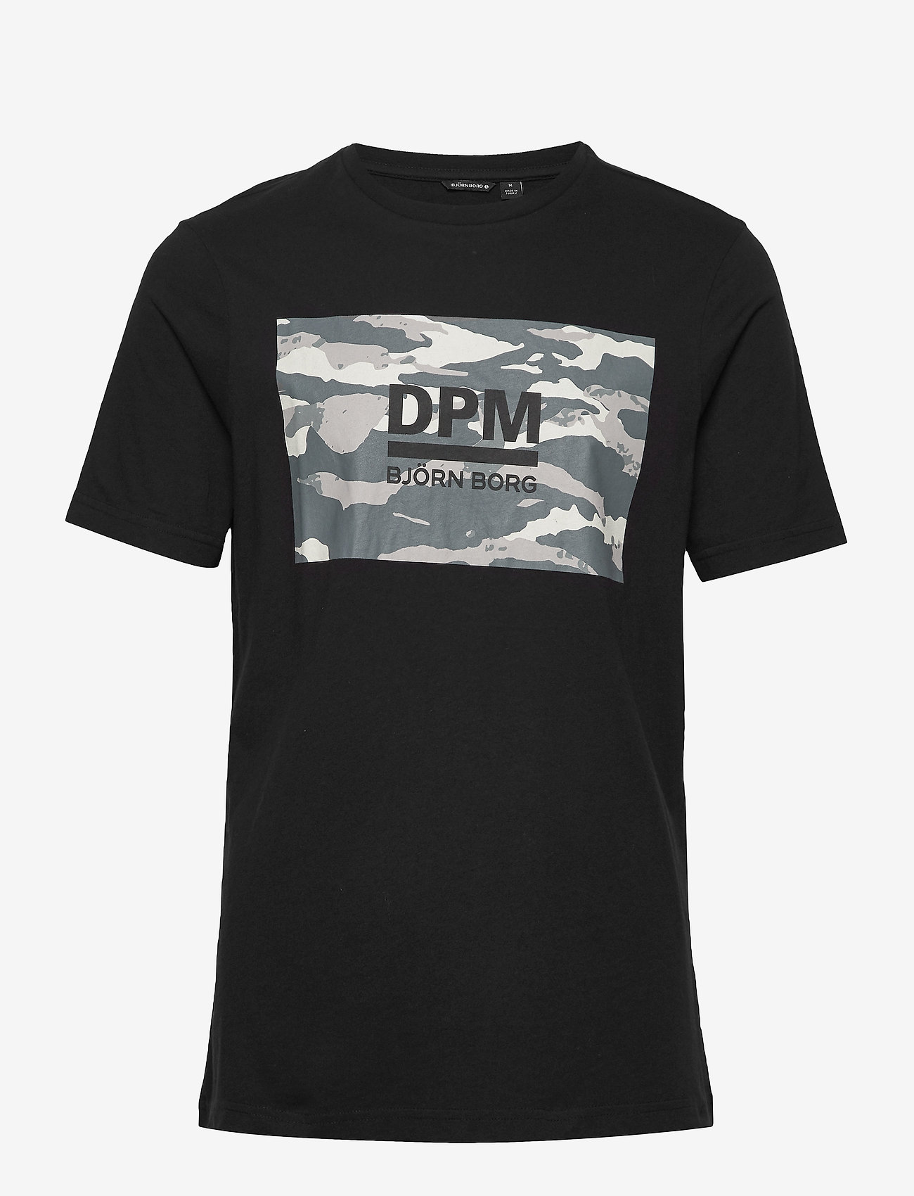 Björn Borg - DPM SPORT TEE - sports tops - black beauty