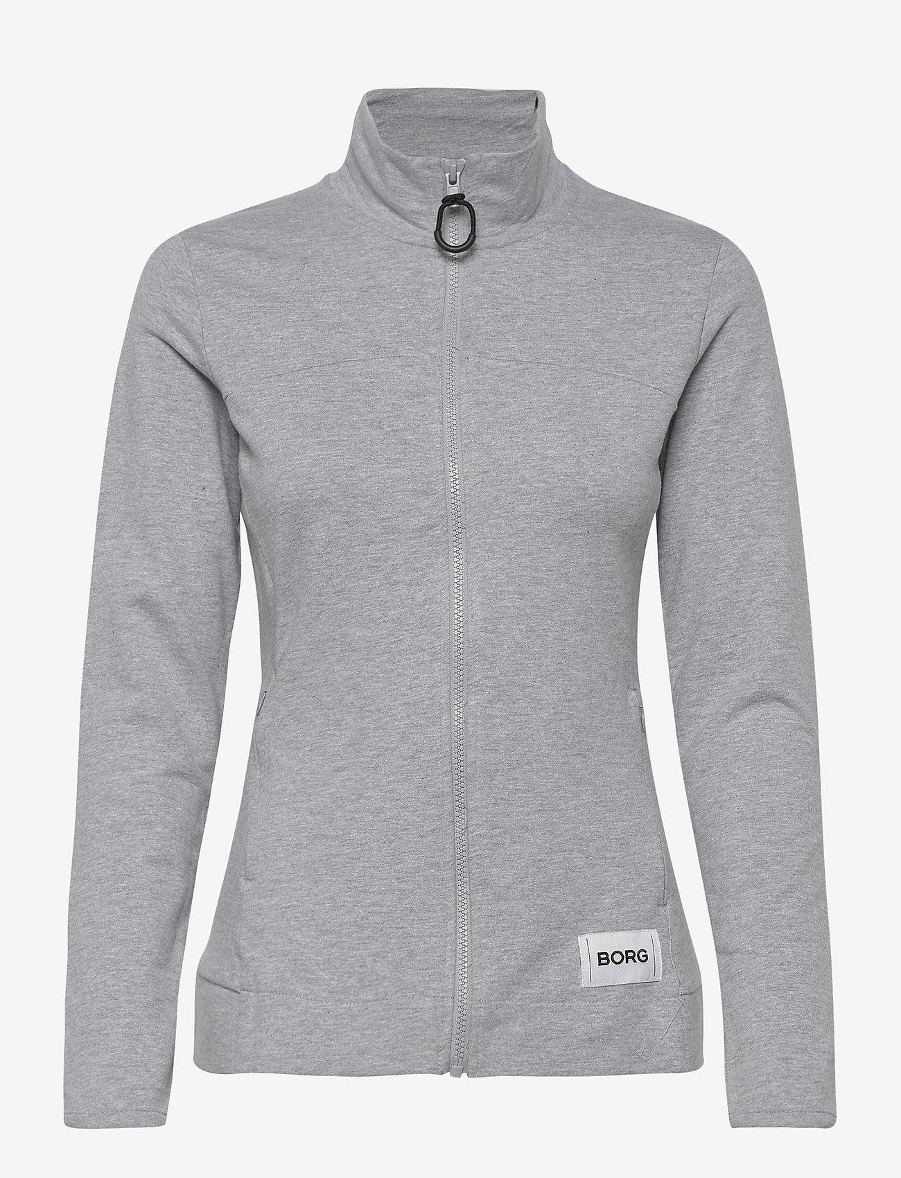 Björn Borg - JACKET FLAVIA FLAVIA - sweatshirts - h108by light grey melange - 0
