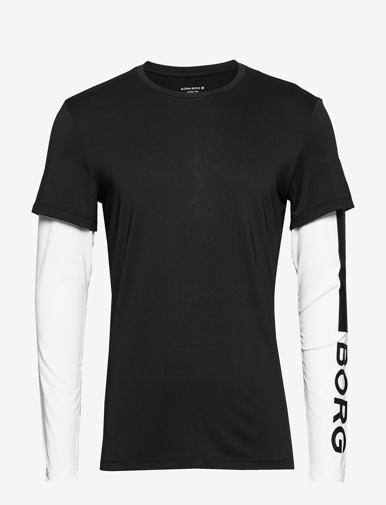 Björn Borg - LS TEE ABER ABER - langarmshirts - black beauty - 0