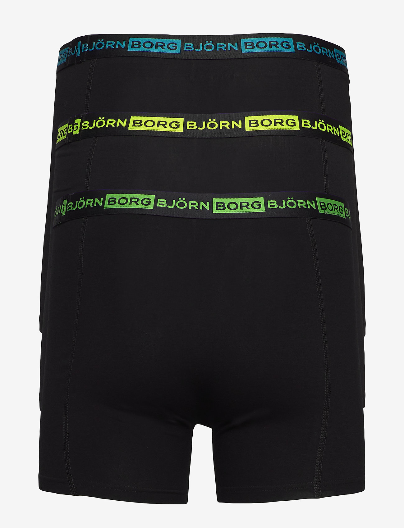 Björn Borg - SHORTS SAMMY SEASONAL NEON - sous-vetements - black beauty - 1