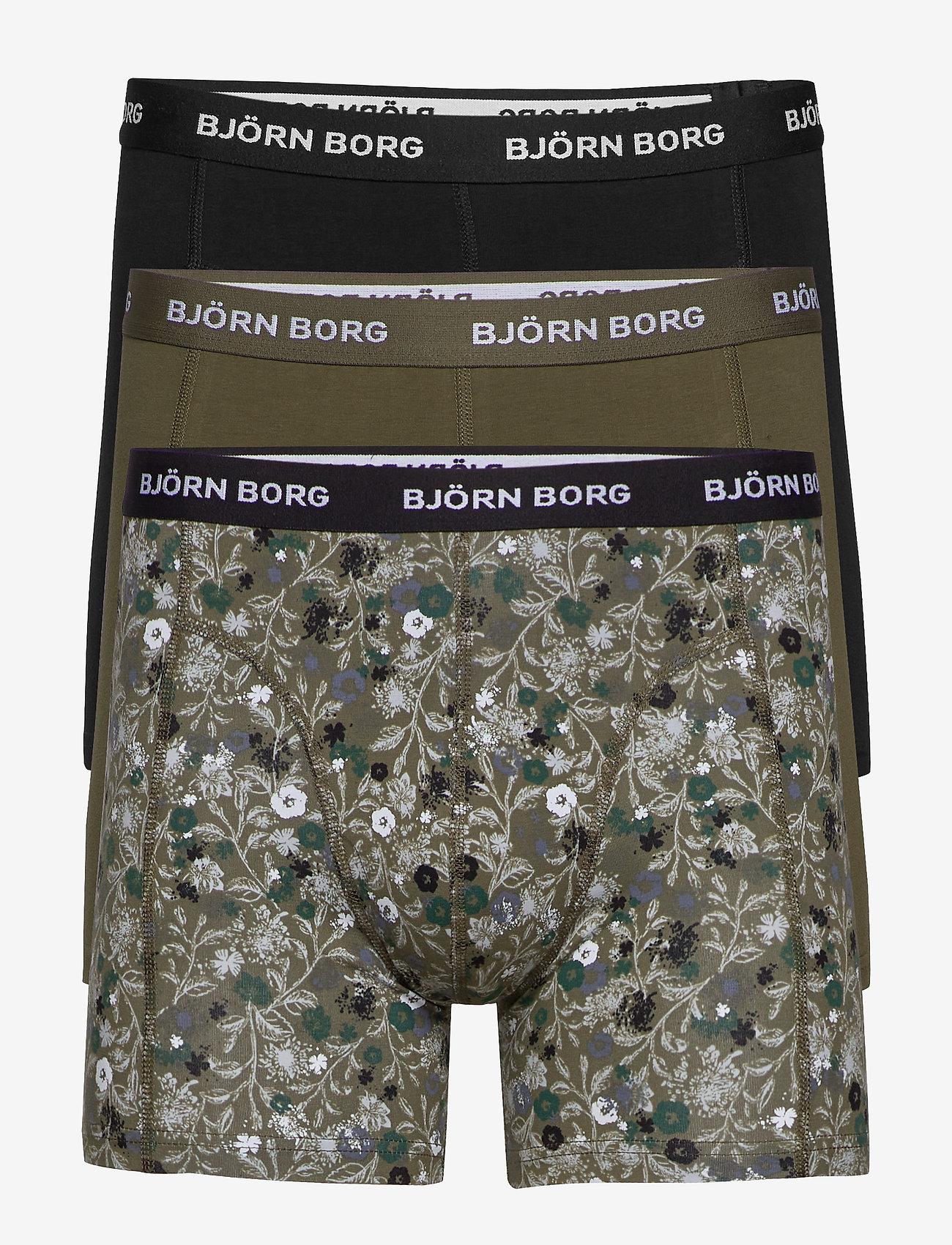 Björn Borg - SHORTS SAMMY BB LA FLOWER - boxers - olive night - 0