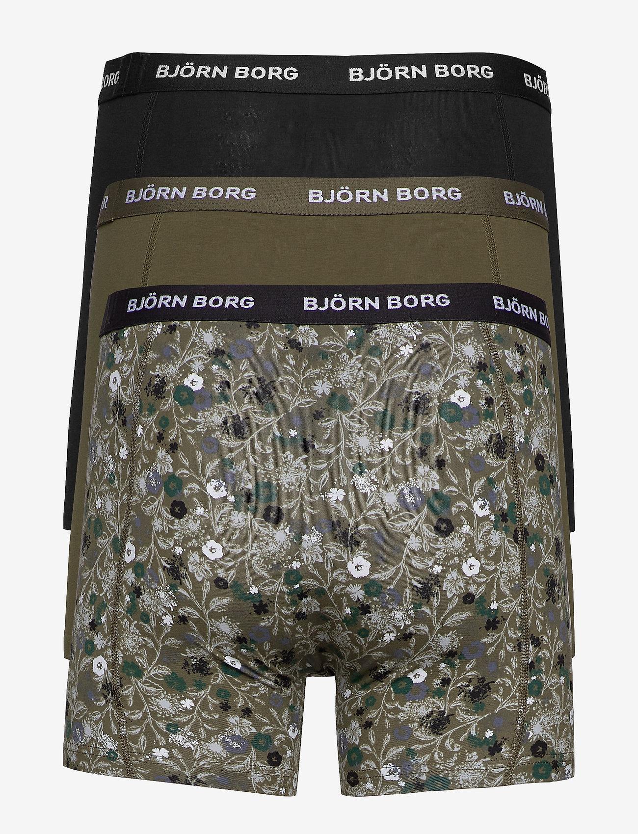 Björn Borg - SHORTS SAMMY BB LA FLOWER - boxers - olive night - 1