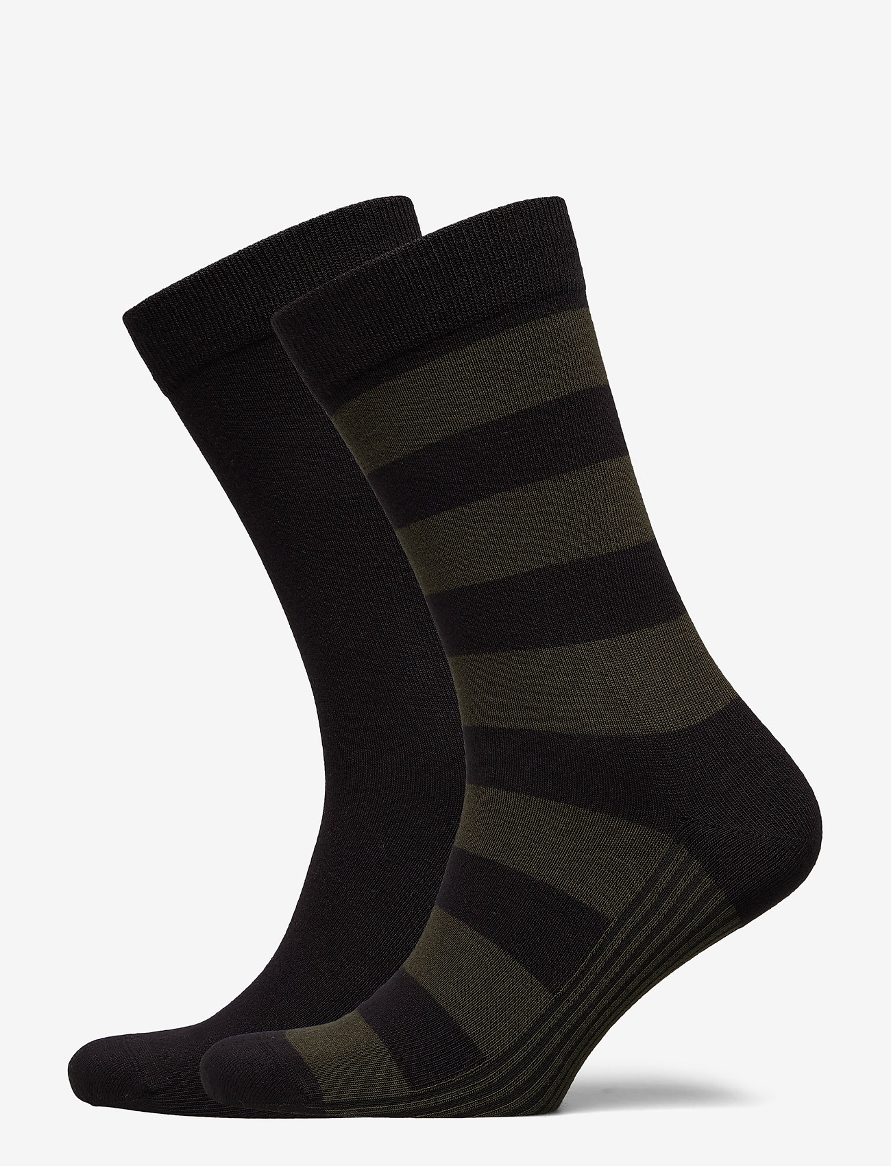 Björn Borg - SOCK ANKLE BB BLOCK STRIPE - tavalliset sukat - black beauty - 0