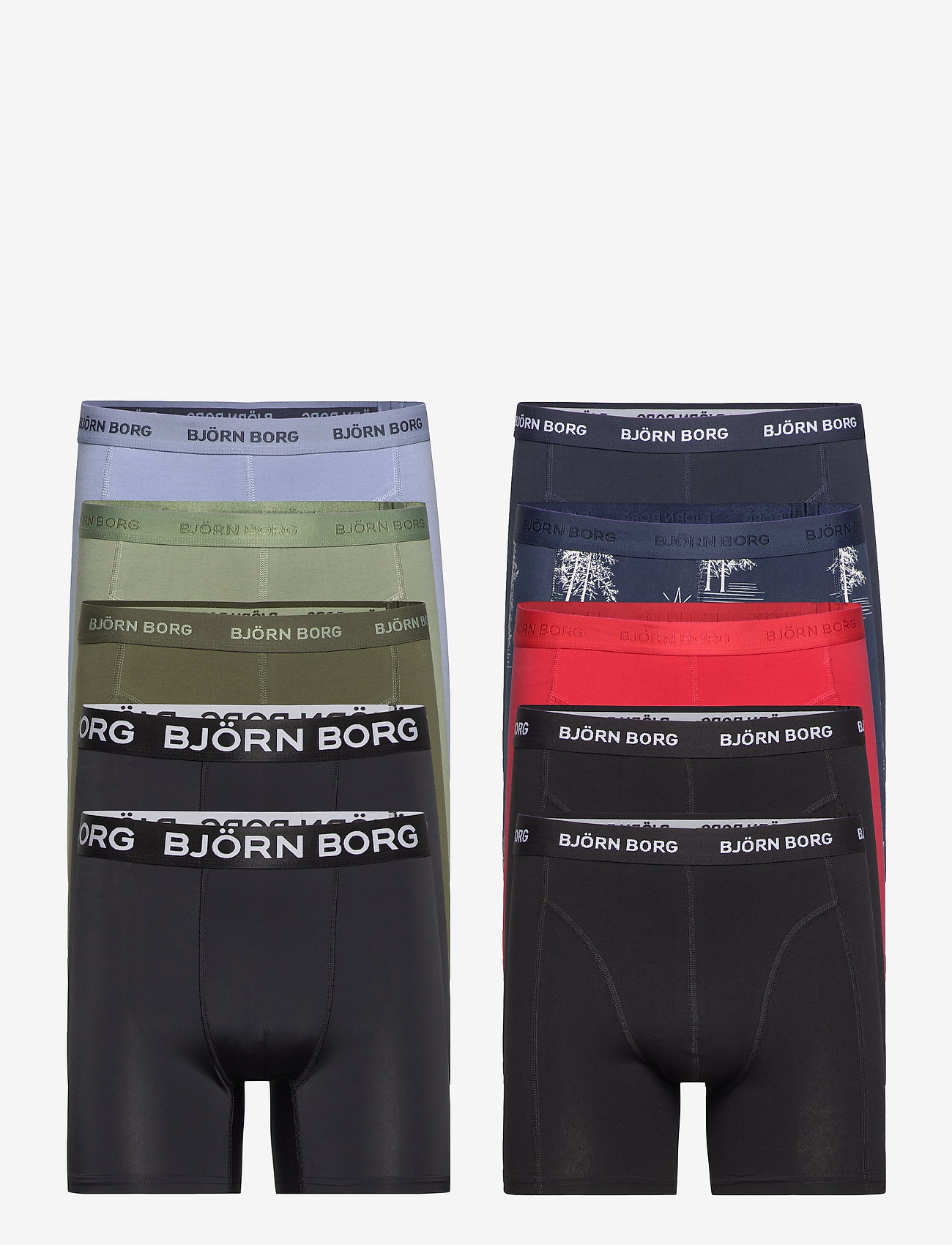 Björn Borg - SHORTS SAMMY BB WINTER PRINT - boxers - mood indigo - 0
