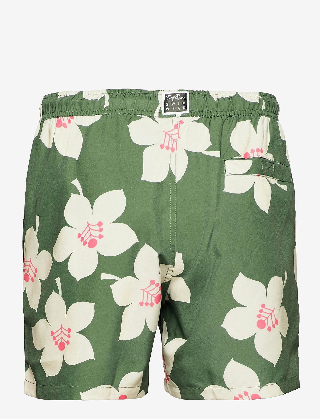 Björn Borg - LOOSE SHORTS SYLVESTER SYLVESTER - shorts de bain - bb graphic floral duck green - 2