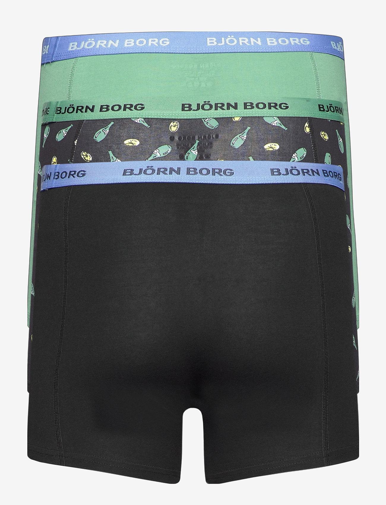 Björn Borg - SHORTS SAMMY BB LEMONSPLASH - underwear - black beauty - 1