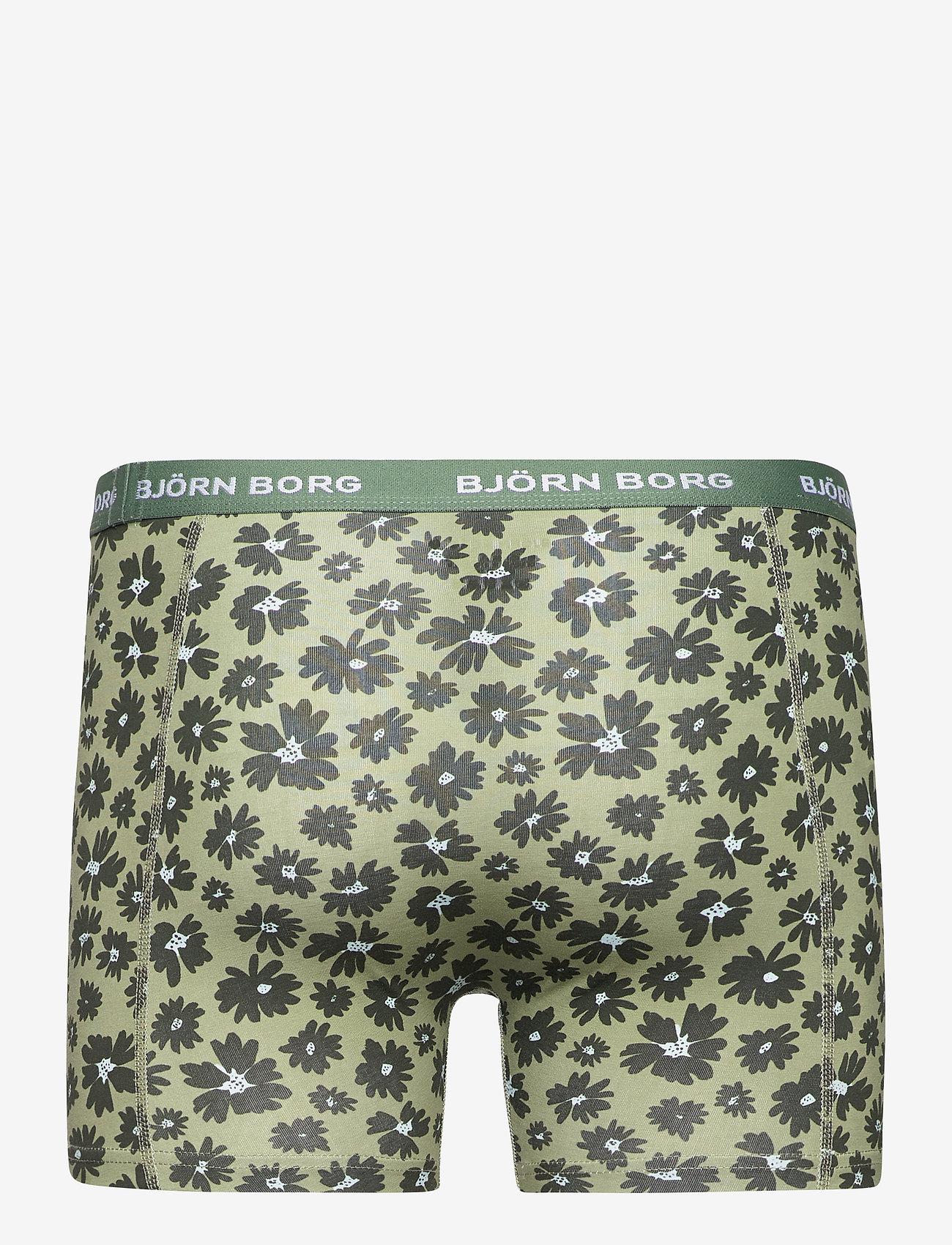 Björn Borg - SHORTS SAMMY BB FOURFLOWER - underwear - oil green - 1