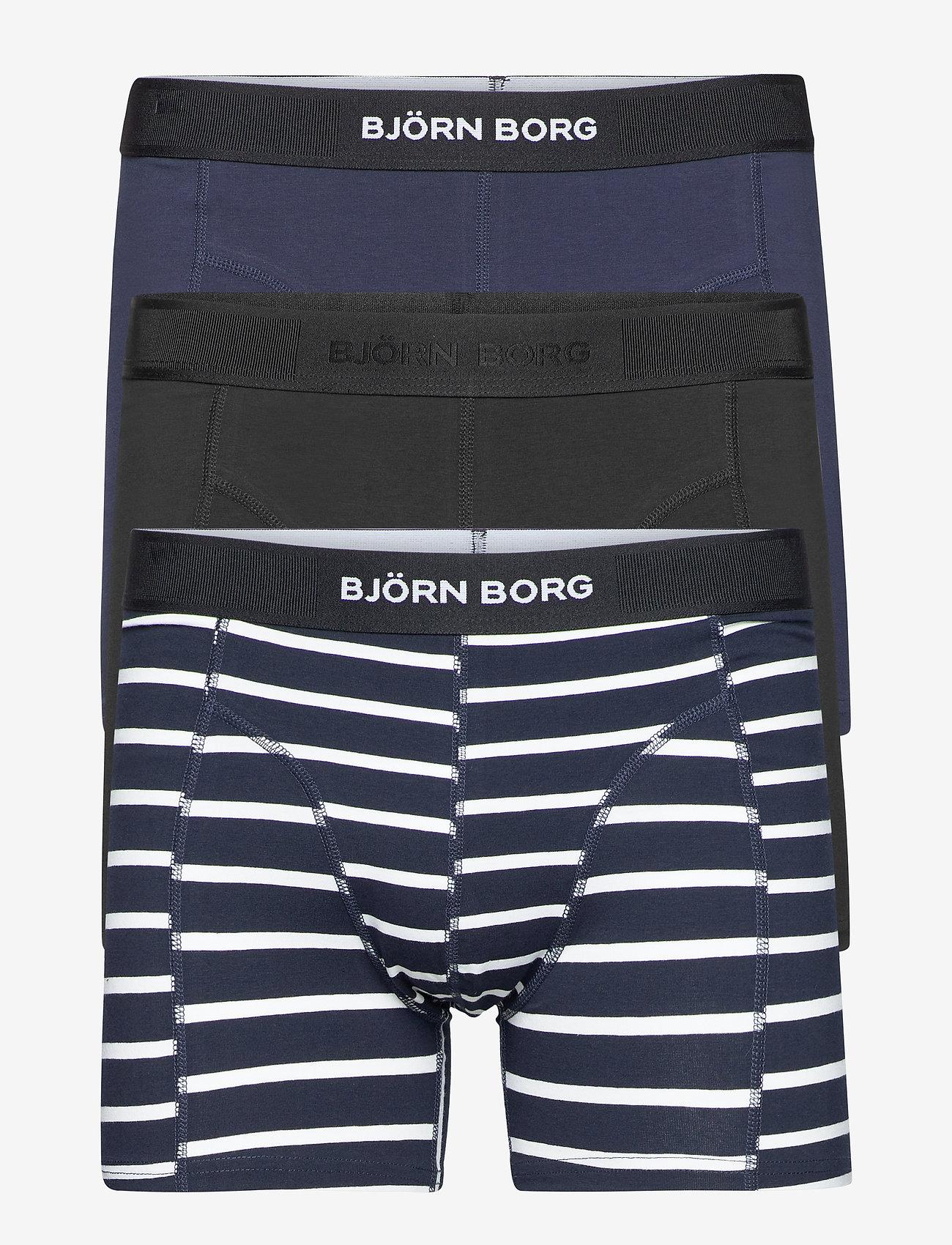 Björn Borg - SHORTS SAMMY BB SINGLE STRIPE - underwear - black beauty - 0