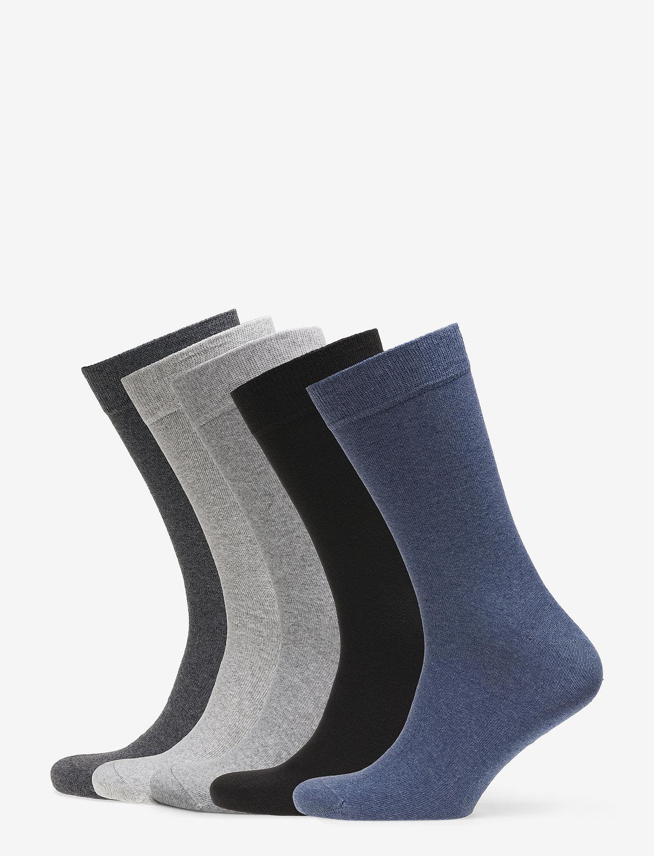 Björn Borg - 5p SOCK NOOS ESSENTIAL - regular socks - grey melange - 0