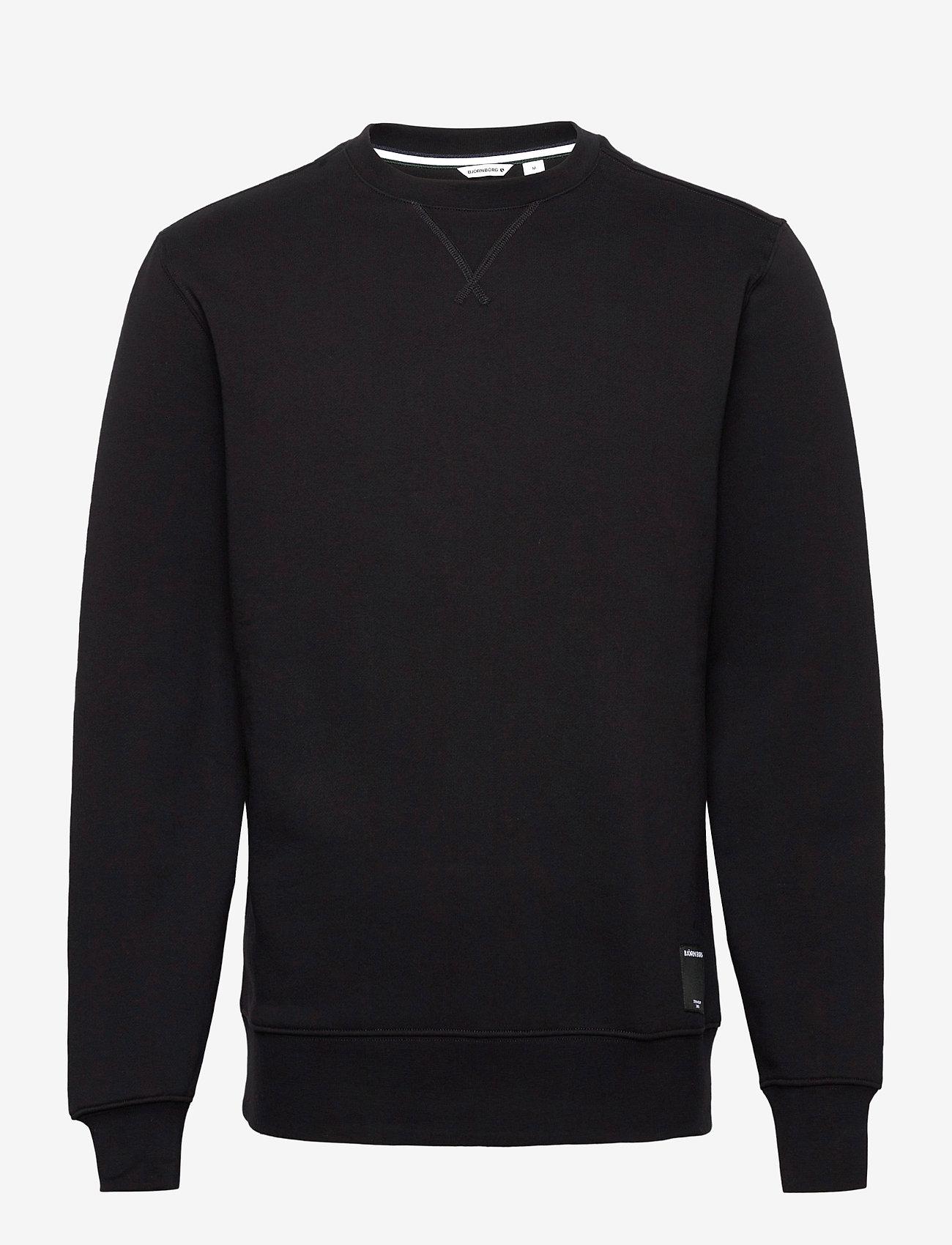 Björn Borg - CREW CENTRE CENTRE - basic sweatshirts - black beauty - 0