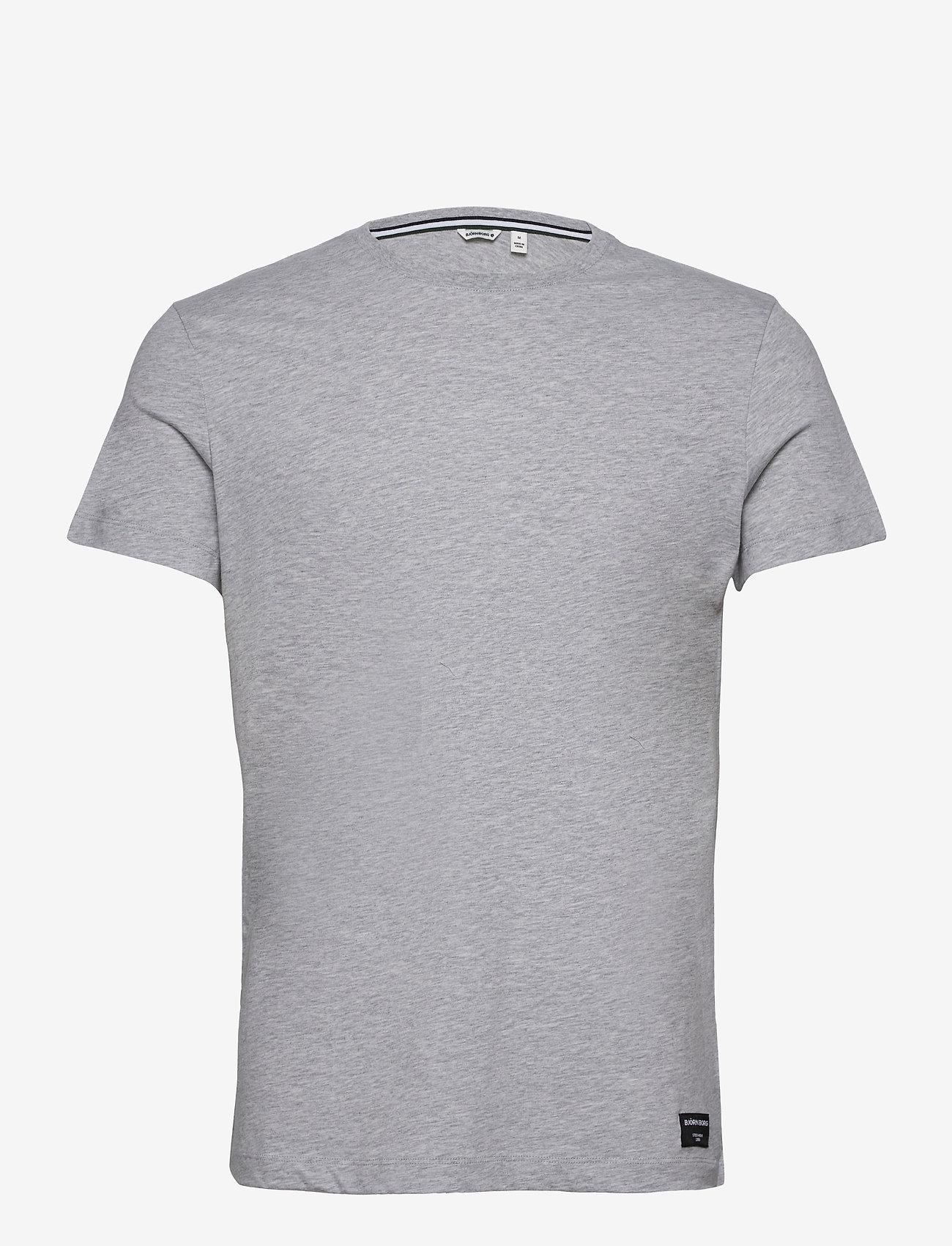Björn Borg - TEE CENTRE CENTRE - basic t-shirts - h108by light grey melange - 0