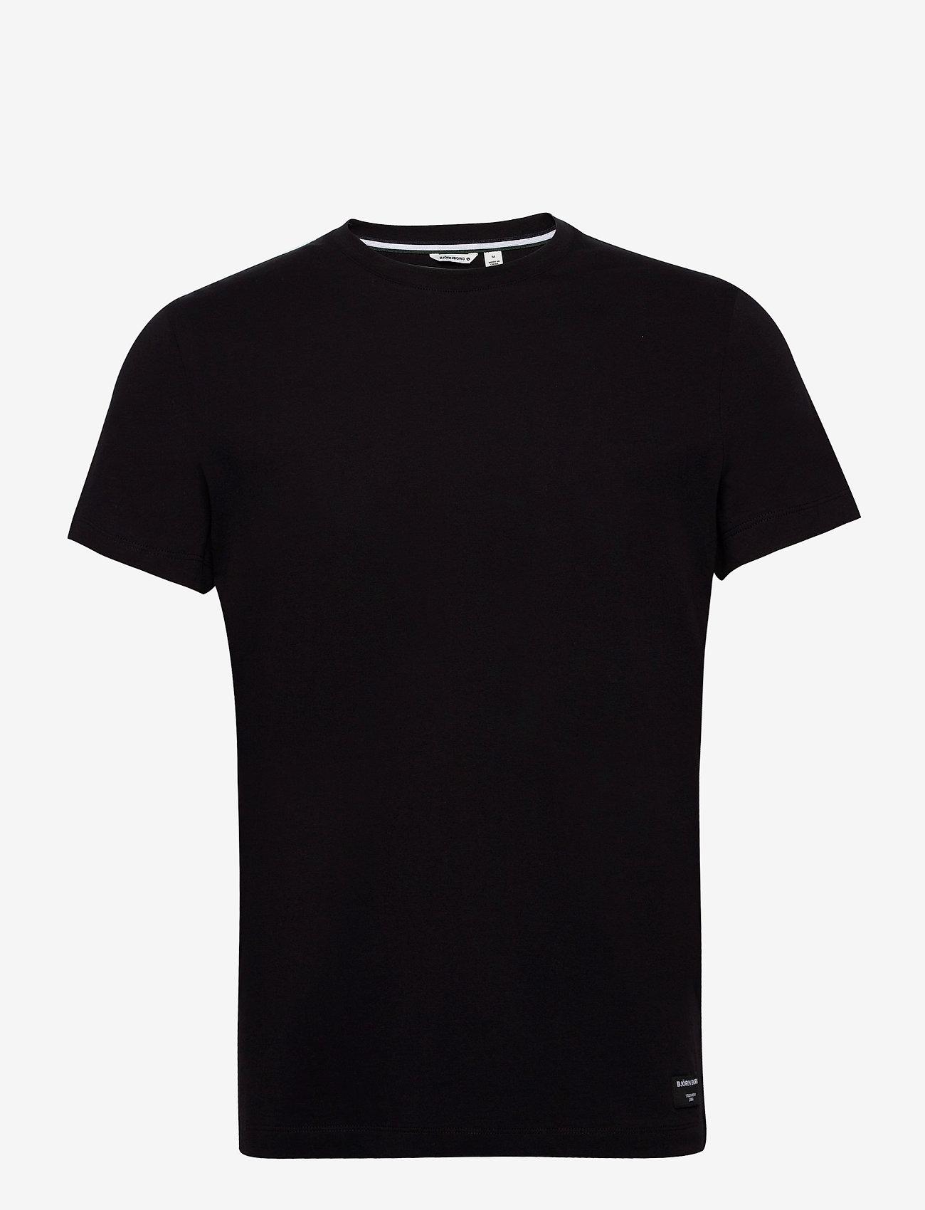 Björn Borg - TEE CENTRE CENTRE - basic t-shirts - black beauty - 0