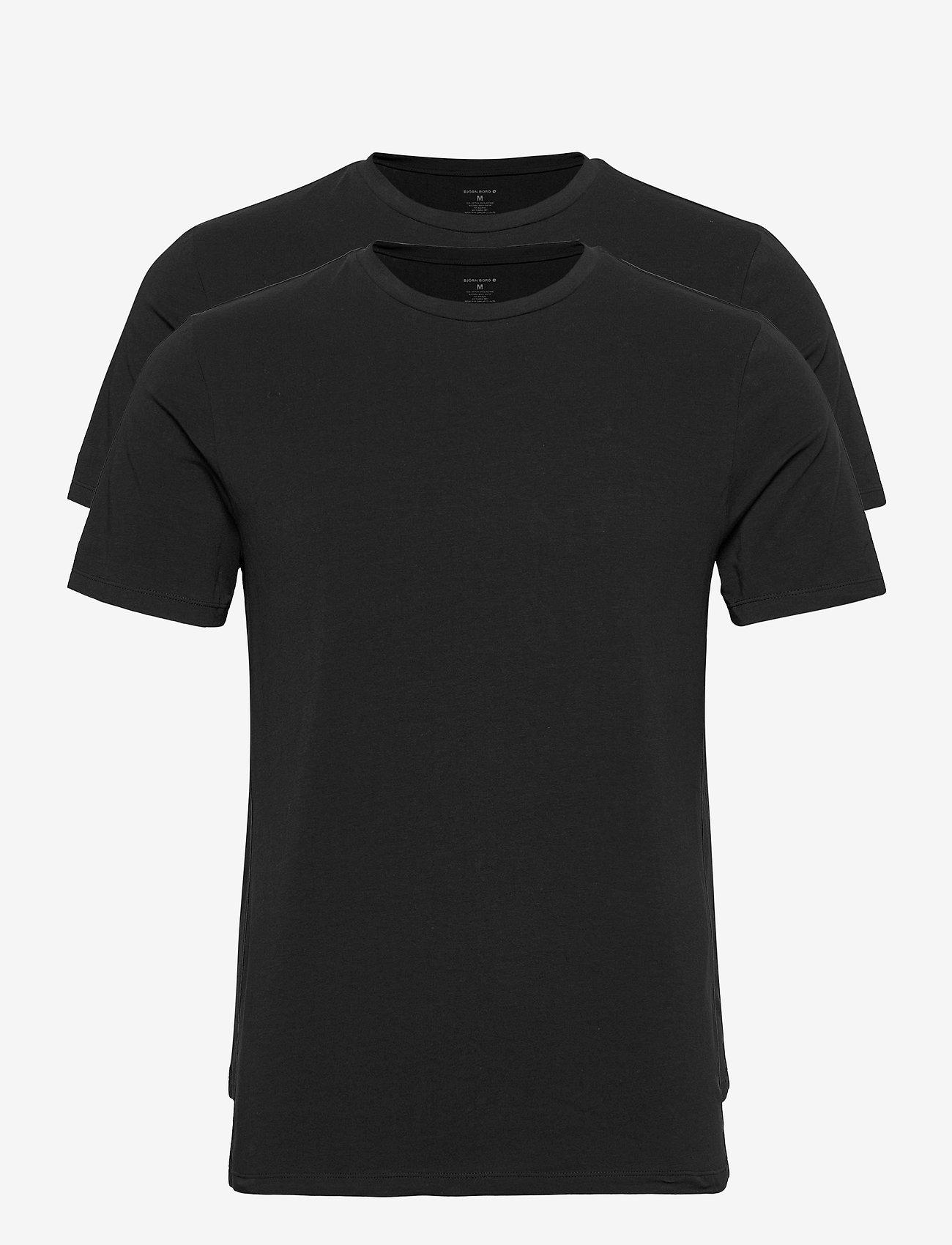 Björn Borg - TEE THOMAS SOLID - basic t-shirts - black beauty - 0