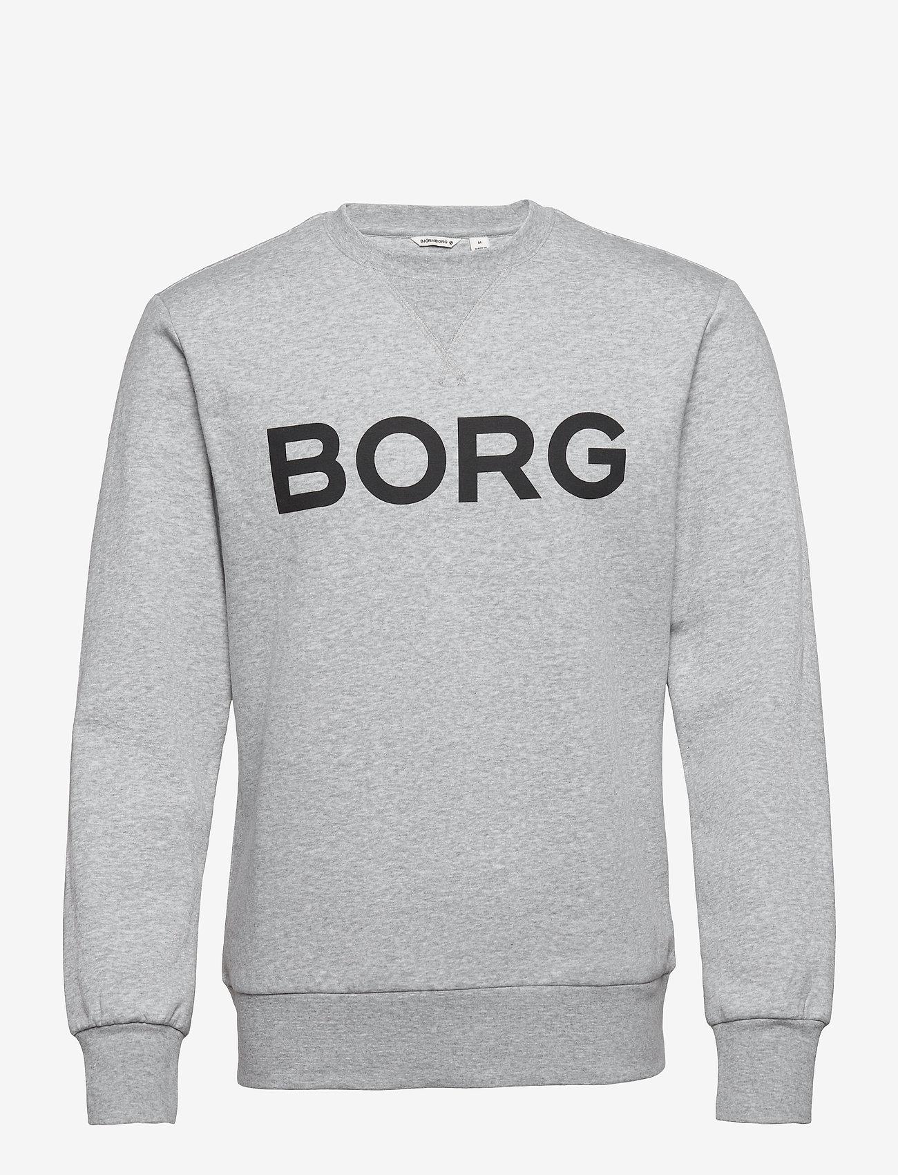 Björn Borg - CREW M BB LOGO M BB LOGO - basic sweatshirts - h108by light grey melange - 1