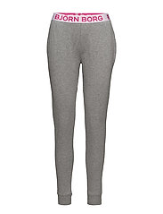 1p CUFFED PANT SEASONAL SOLID - GREY MELANGE H120AB
