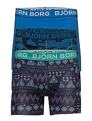 3p SHORTS BB SHADE S & BB ETNO STRIPE - MYKONOS BLUE