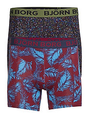 SHORTS BB NY PALMLEAF & BB TINY FLOWER 2p - BEET RED