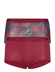 MINISHORTS BB NY PALMLEAF 2p - BEET RED