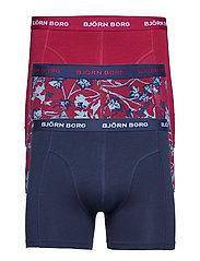 SHORTS BB FLEURS DE JARDIN 3p - BEET RED