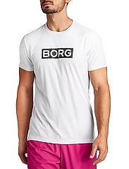 Björn Borg - ATOS TEE - sports tops - black beauty - 0