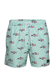 LOOSE SHORTS SYLVESTER SYLVESTER - BB KOI WAVE MINT