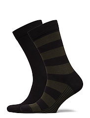 SOCK ANKLE BB BLOCK STRIPE - BLACK BEAUTY