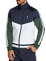 Björn Borg - TRACK JACKET BORG SPORT BORG SPORT - basic sweatshirts - stripe blocking - 0