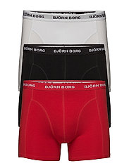 3p SHORTS NOOS SOLIDS - TRUE RED