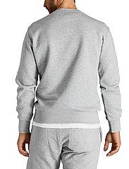 Björn Borg - CREW M BB LOGO M BB LOGO - basic sweatshirts - h108by light grey melange - 3