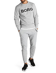 Björn Borg - CREW M BB LOGO M BB LOGO - basic sweatshirts - h108by light grey melange - 4