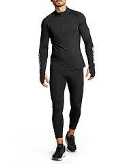 Björn Borg - MIDLAYER HALF ZIP BORG BORG - training jackets - black beauty - 7