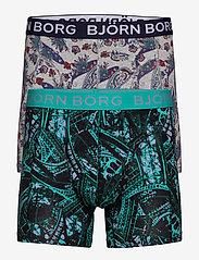 Björn Borg - SHORTS BB EIFFEL & BB PAISLEY 2- pack - boxers - h108by light grey melange - 0
