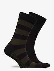 Björn Borg - SOCK ANKLE BB BLOCK STRIPE - tavalliset sukat - black beauty - 1