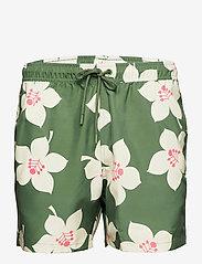 Björn Borg - LOOSE SHORTS SYLVESTER SYLVESTER - shorts de bain - bb graphic floral duck green - 1