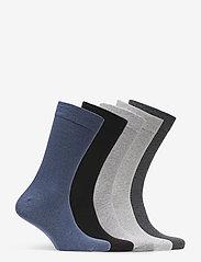 Björn Borg - 5p SOCK NOOS ESSENTIAL - regular socks - grey melange - 1